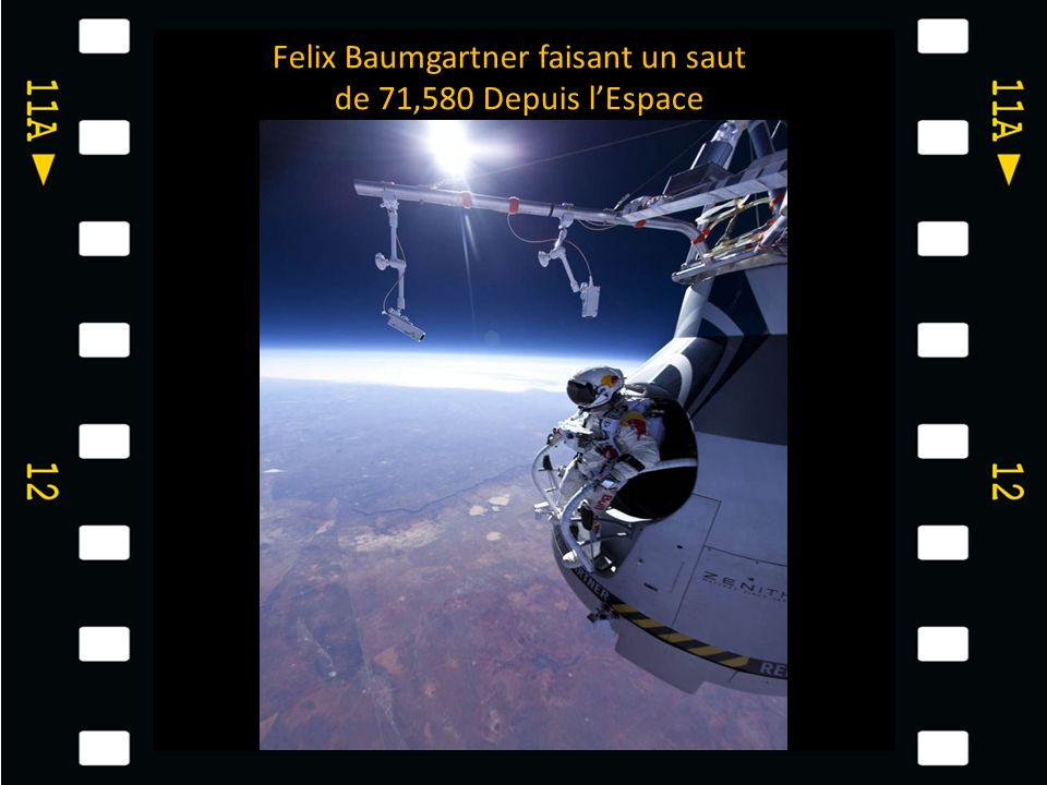 Felix Baumgartner faisant un saut