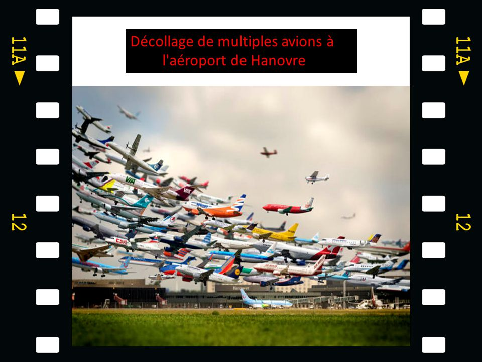 Décollage de multiples avions à