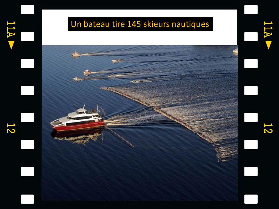 Un bateau tire 145 skieurs nautiques