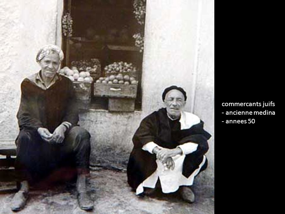 commercants juifs - ancienne medina - annees 50