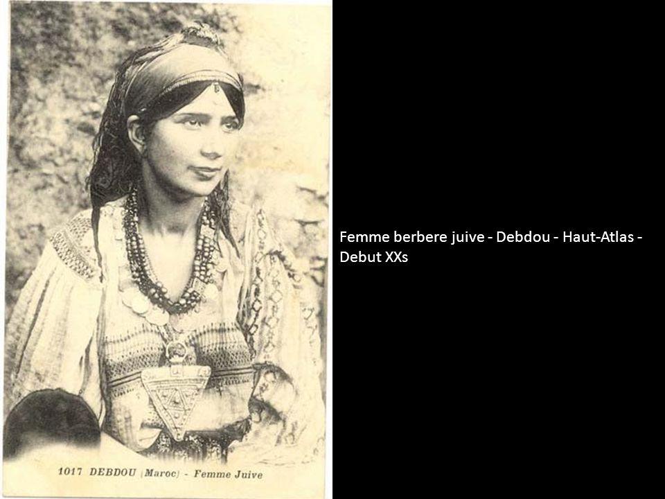 Femme berbere juive - Debdou - Haut-Atlas - Debut XXs