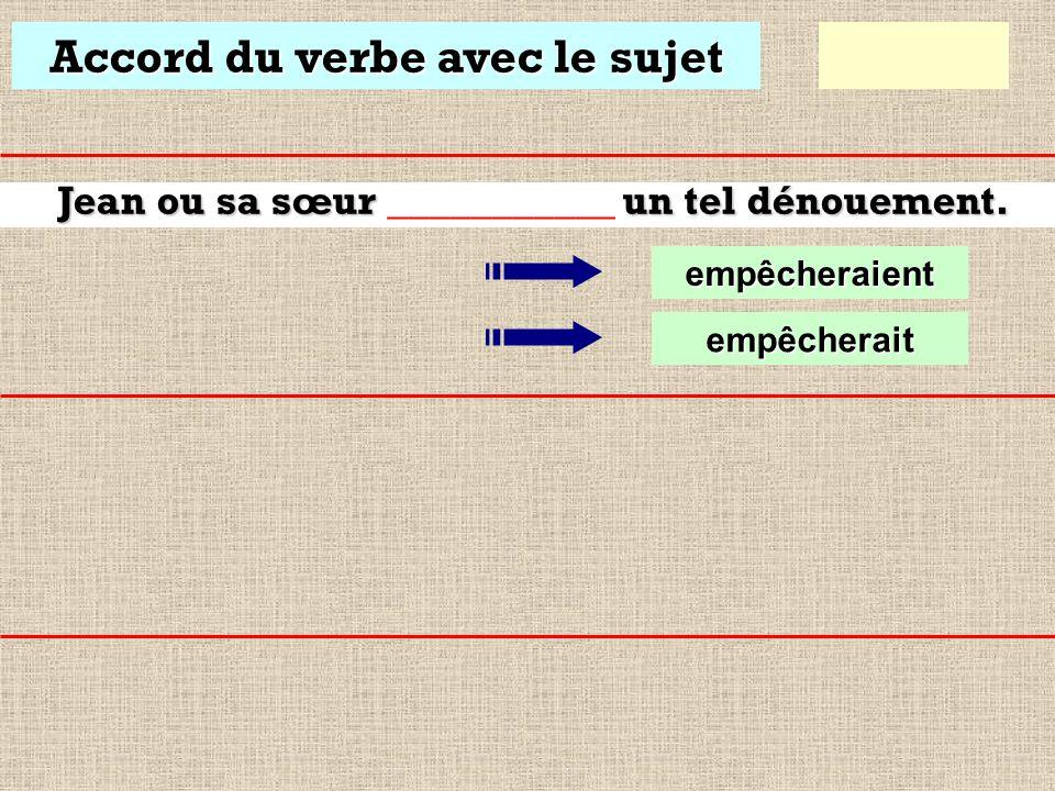 Accord du verbe avec le sujet