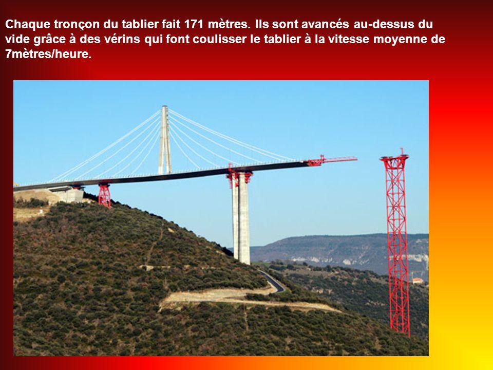 Chaque tronçon du tablier fait 171 mètres