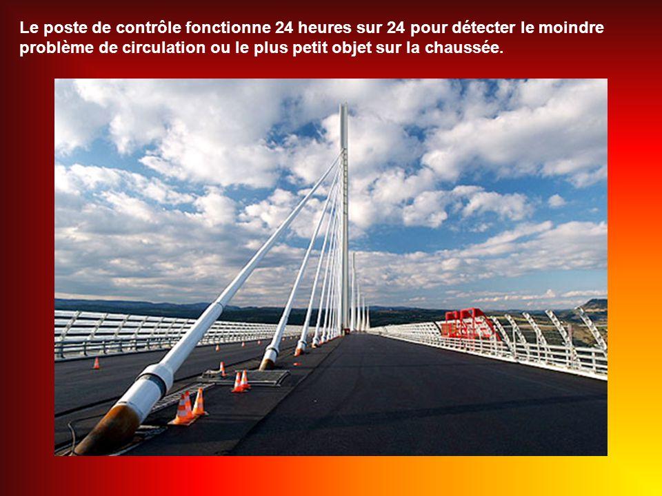 Le poste de contrôle fonctionne 24 heures sur 24 pour détecter le moindre problème de circulation ou le plus petit objet sur la chaussée.