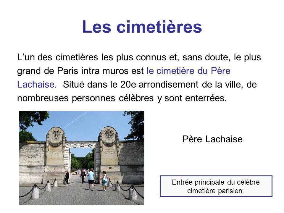 Entrée principale du célèbre cimetière parisien.