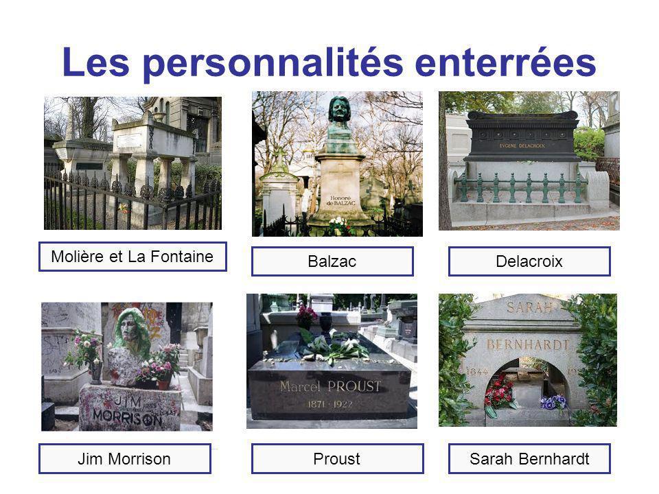 Les personnalités enterrées