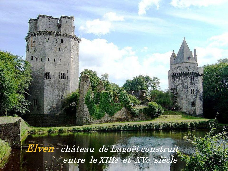 Elven château de Lagoët construit . entre le XIIIe et XVe siècle