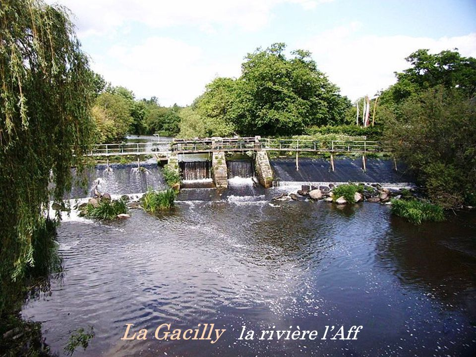La Gacilly la rivière l'Aff