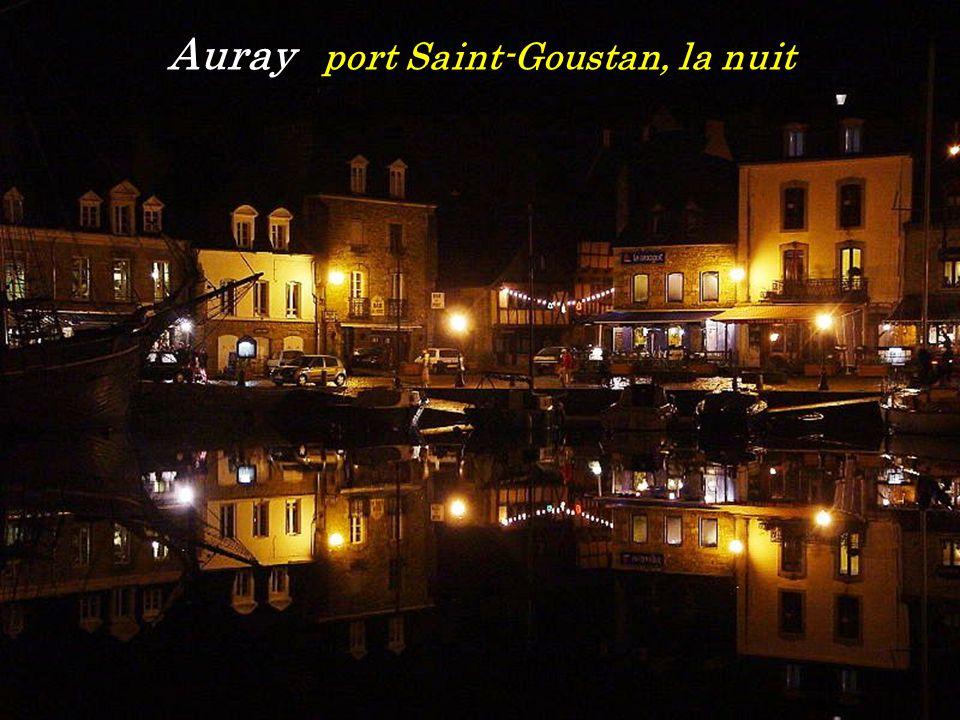 Auray port Saint-Goustan, la nuit