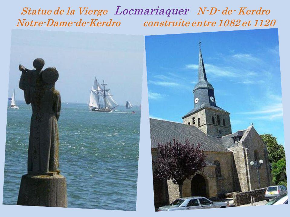 Statue de la Vierge Locmariaquer N-D- de- Kerdro Notre-Dame-de-Kerdro construite entre 1082 et 1120