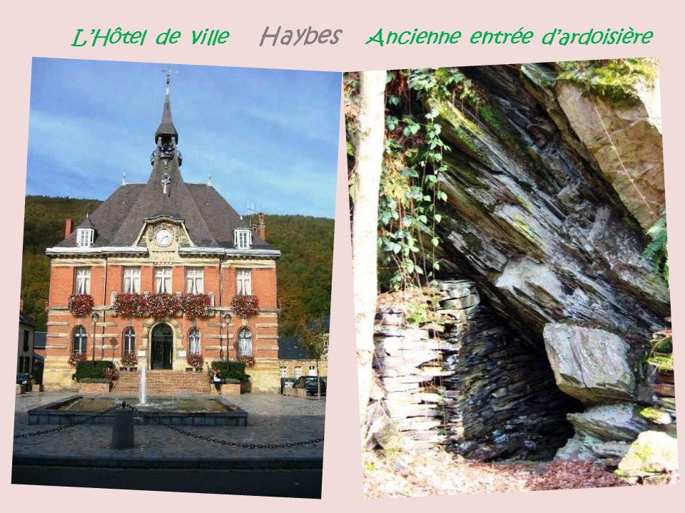 L'Hôtel de ville Haybes Ancienne entrée d'ardoisière