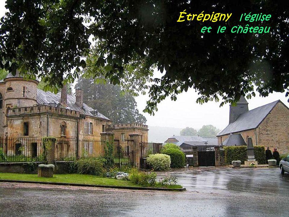 Étrépigny l'église . et le château