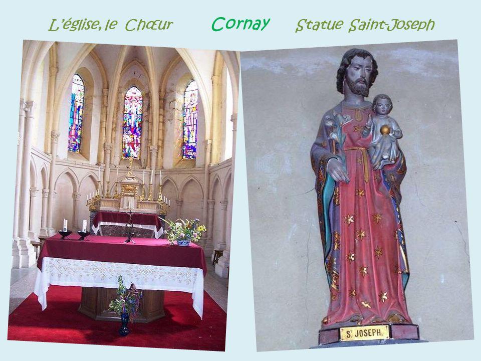 L'église, le Chœur Cornay Statue Saint-Joseph