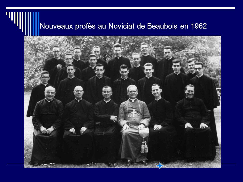 Nouveaux profès au Noviciat de Beaubois en 1962