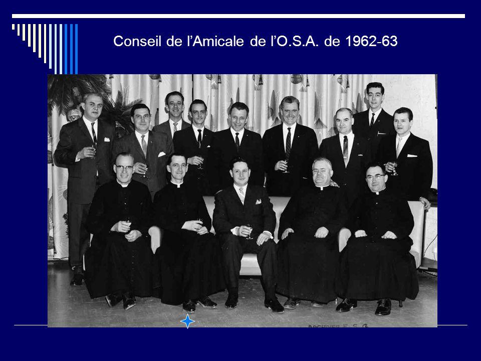 Conseil de l'Amicale de l'O.S.A. de 1962-63