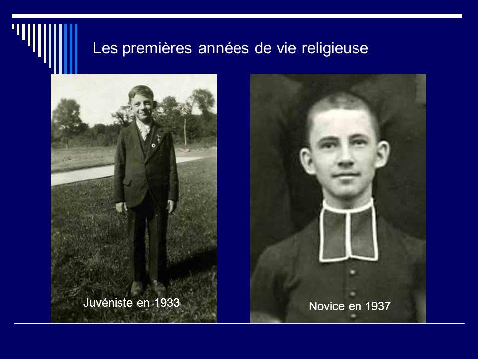 Les premières années de vie religieuse