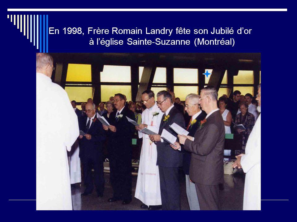 En 1998, Frère Romain Landry fête son Jubilé d'or à l'église Sainte-Suzanne (Montréal)