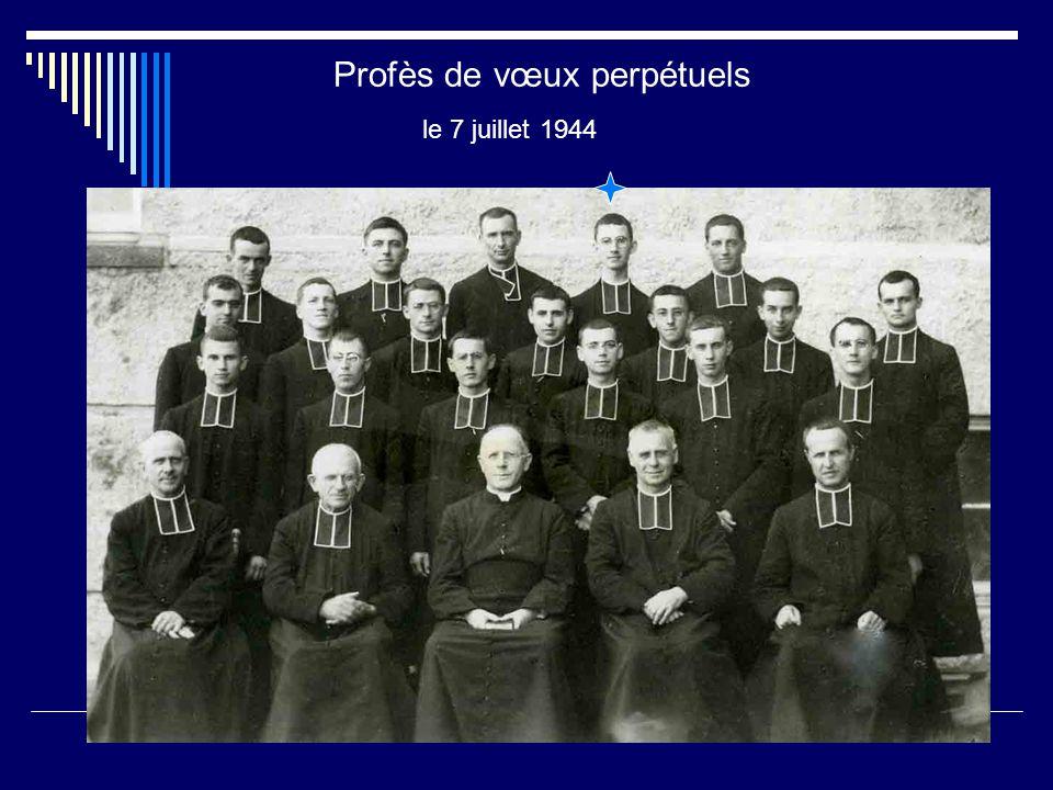 Profès de vœux perpétuels le 7 juillet 1944