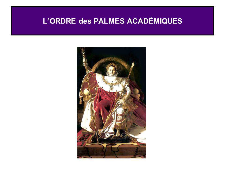 L'ORDRE des PALMES ACADÉMIQUES