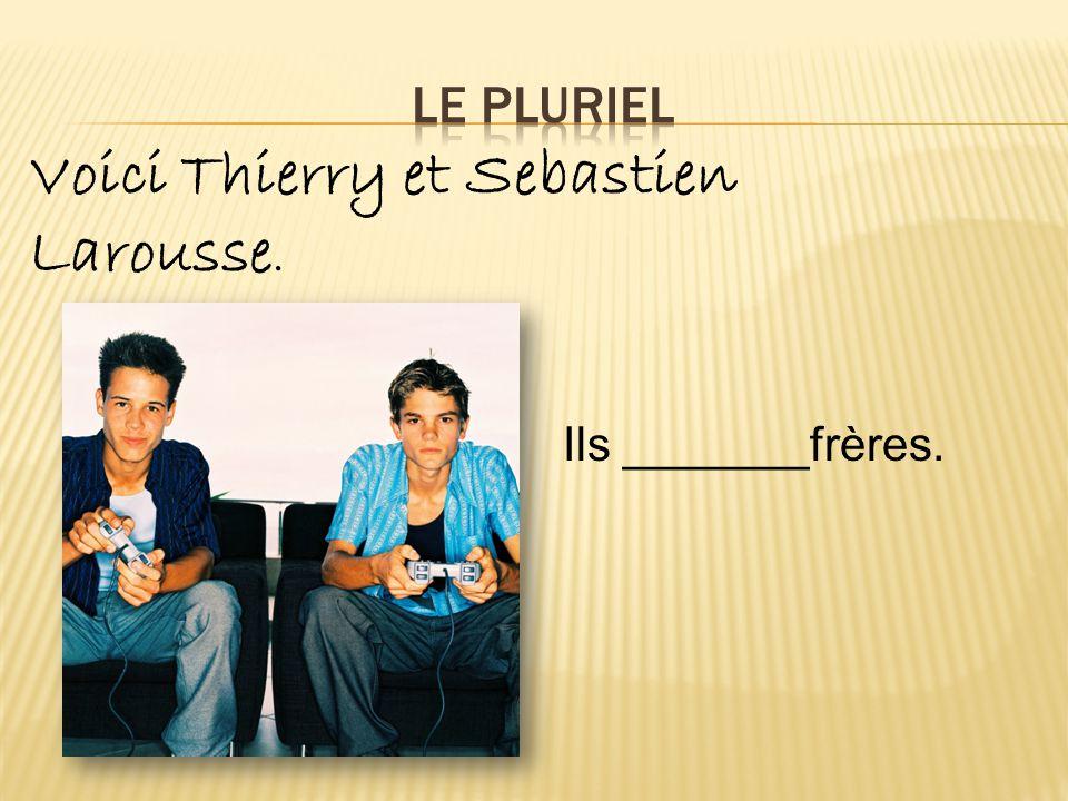 Voici Thierry et Sebastien Larousse.