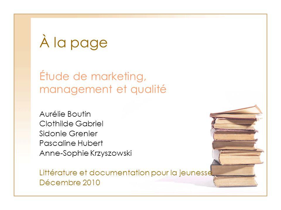 Étude de marketing, management et qualité
