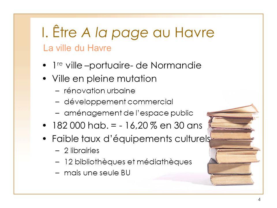 I. Être A la page au Havre La ville du Havre