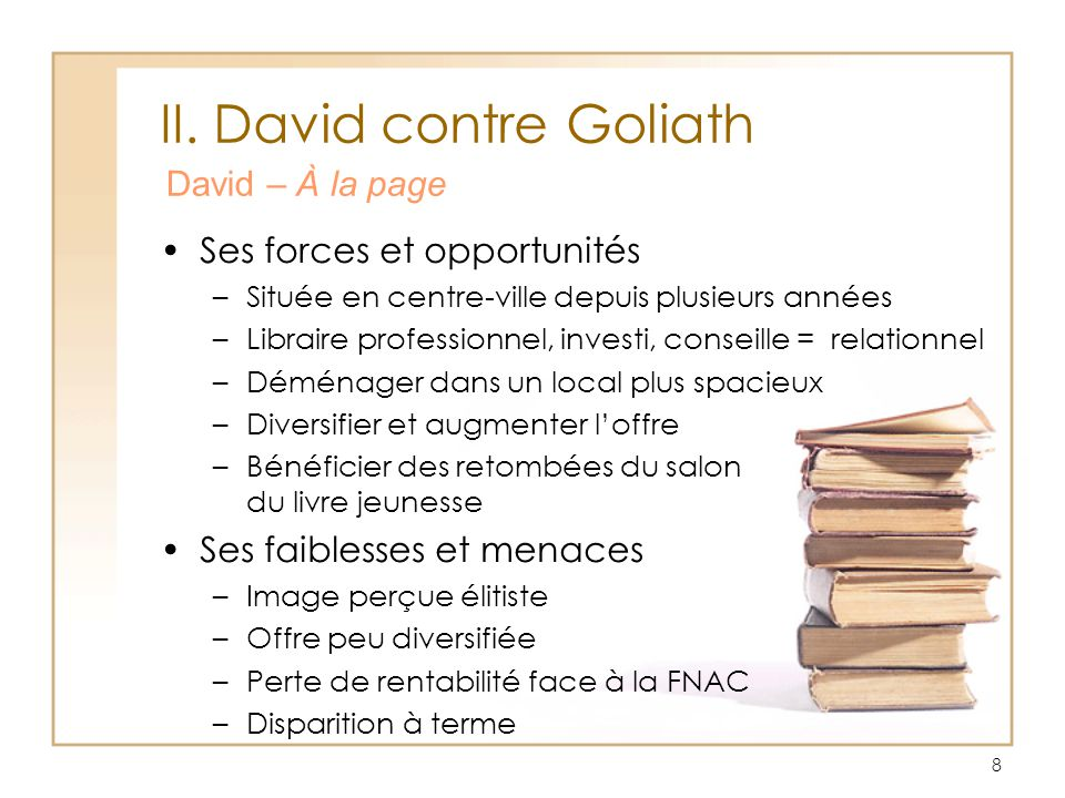 II. David contre Goliath