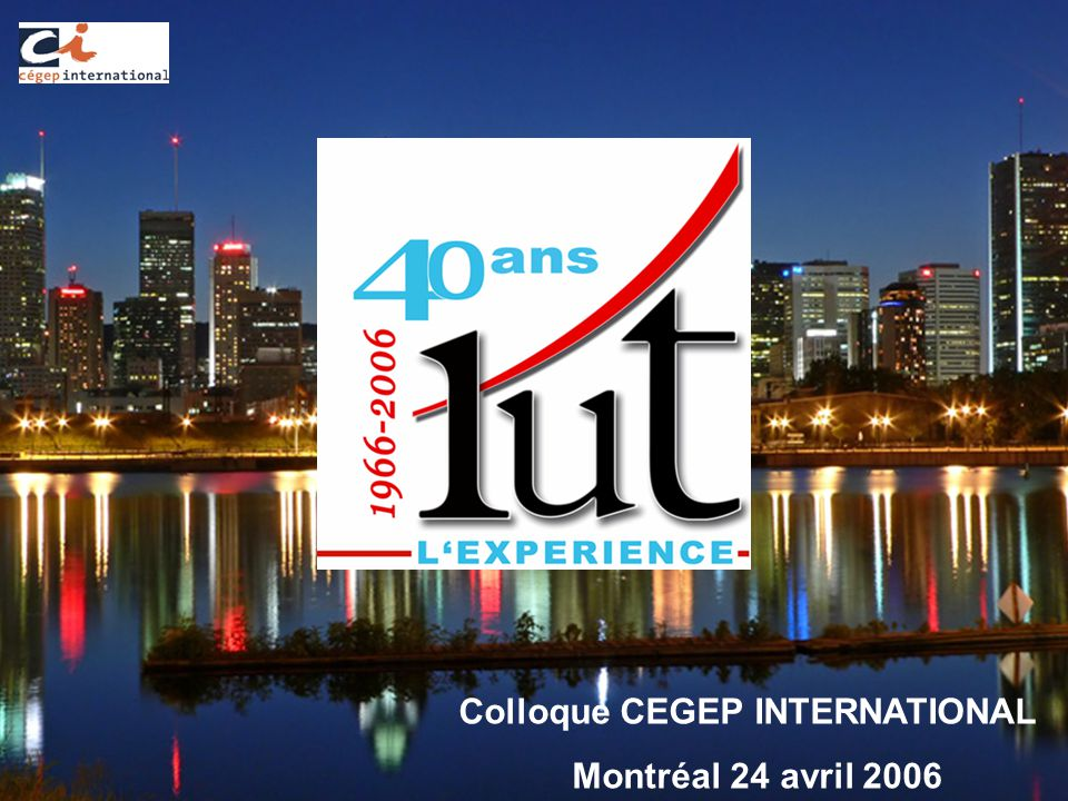 Colloque CEGEP INTERNATIONAL