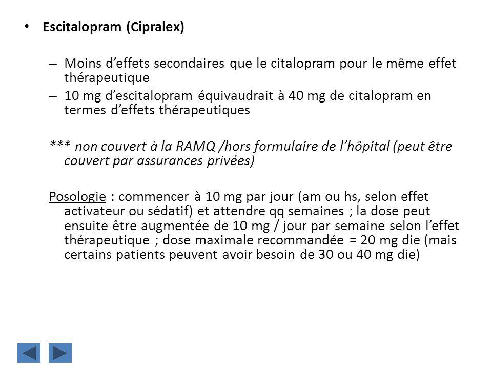 Escitalopram (Cipralex)