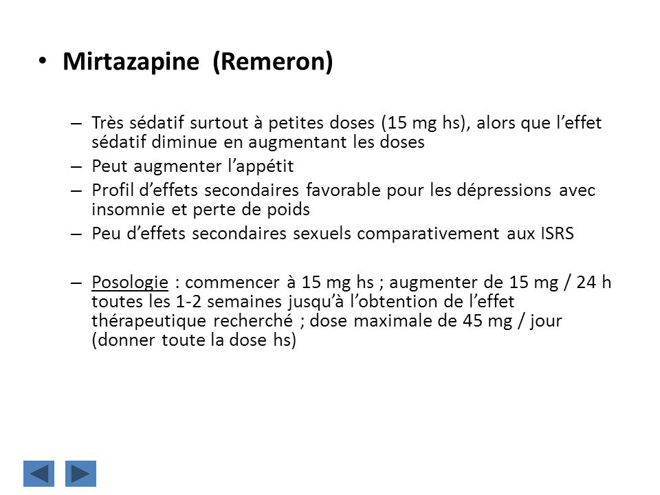 Mirtazapine (Remeron)