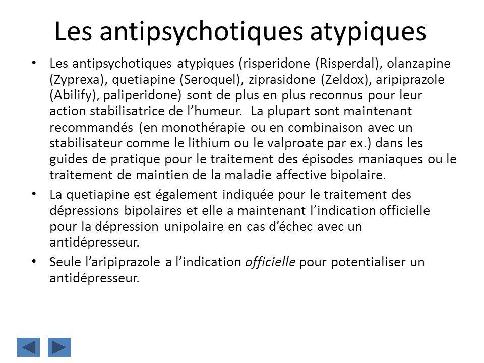 Les antipsychotiques atypiques