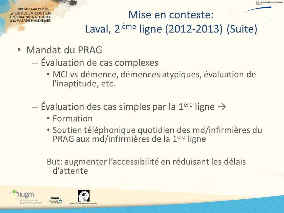 Mise en contexte: Laval, 2ième ligne (2012-2013) (Suite)
