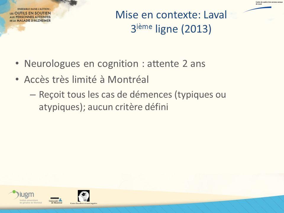 Mise en contexte: Laval 3ième ligne (2013)