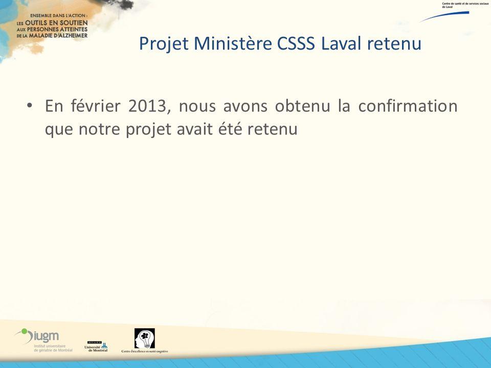 Projet Ministère CSSS Laval retenu