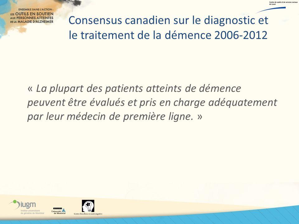 Consensus canadien sur le diagnostic et le traitement de la démence 2006-2012