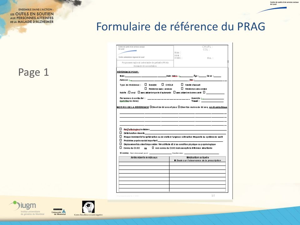 Formulaire de référence du PRAG