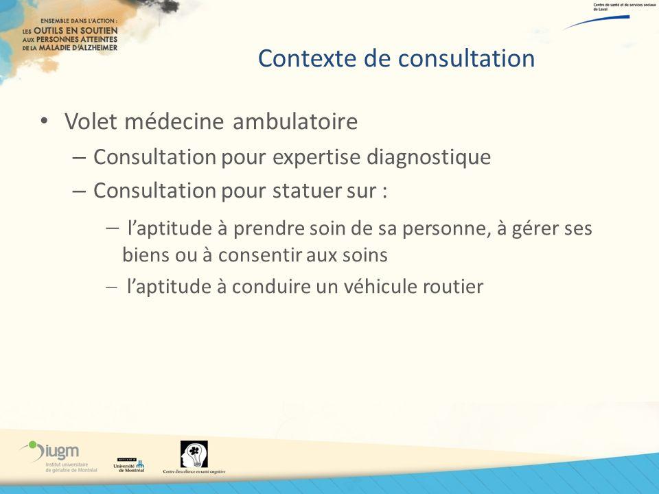 Contexte de consultation