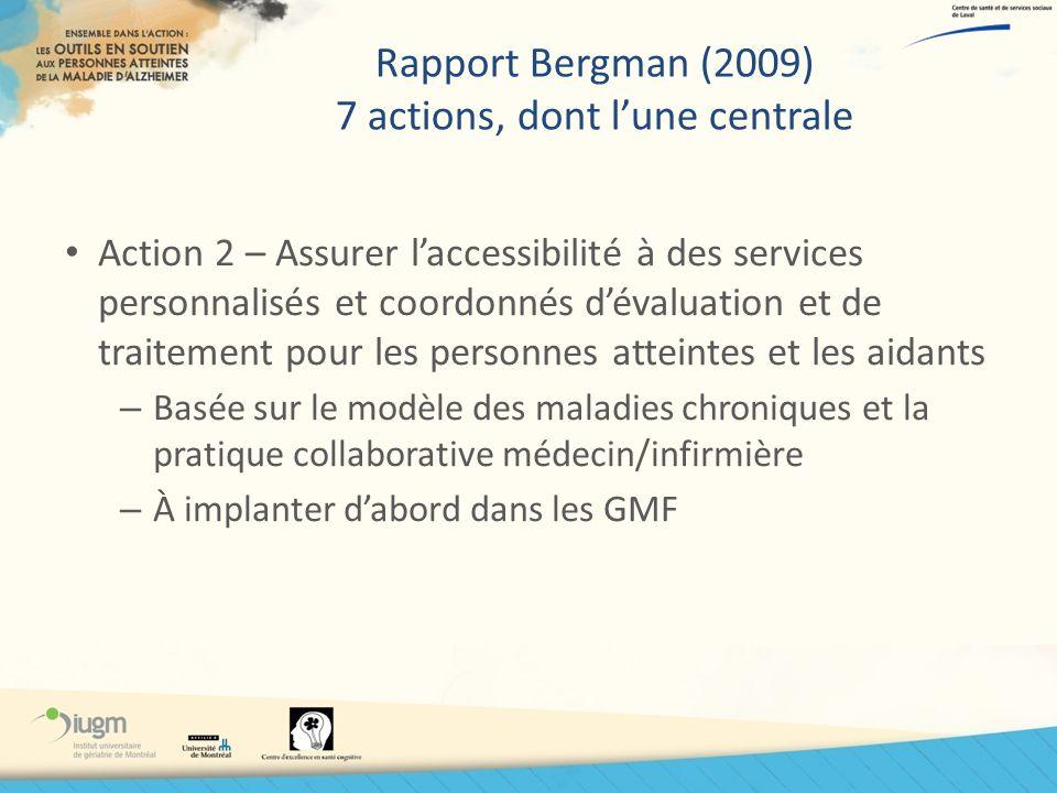 Rapport Bergman (2009) 7 actions, dont l'une centrale