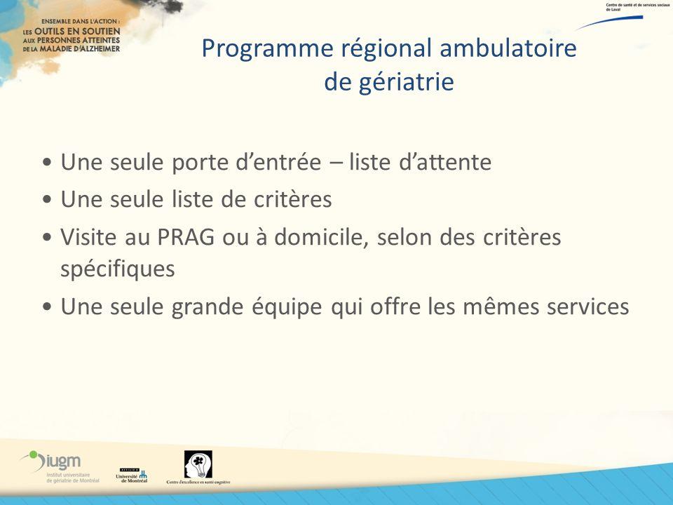 Programme régional ambulatoire de gériatrie