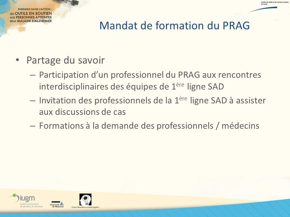 Mandat de formation du PRAG