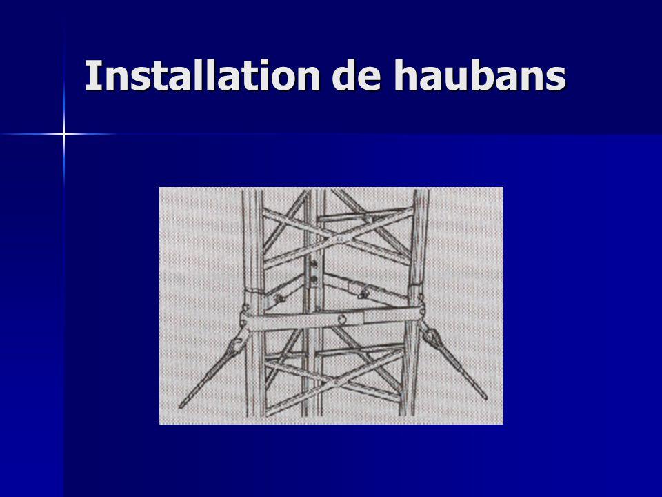 Installation de haubans