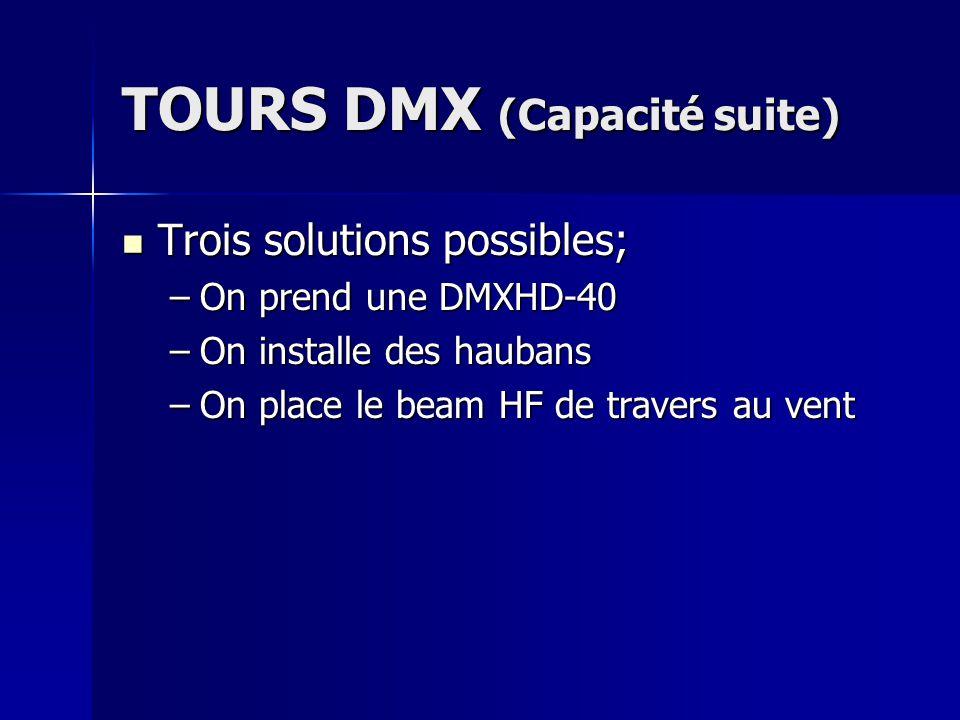 TOURS DMX (Capacité suite)