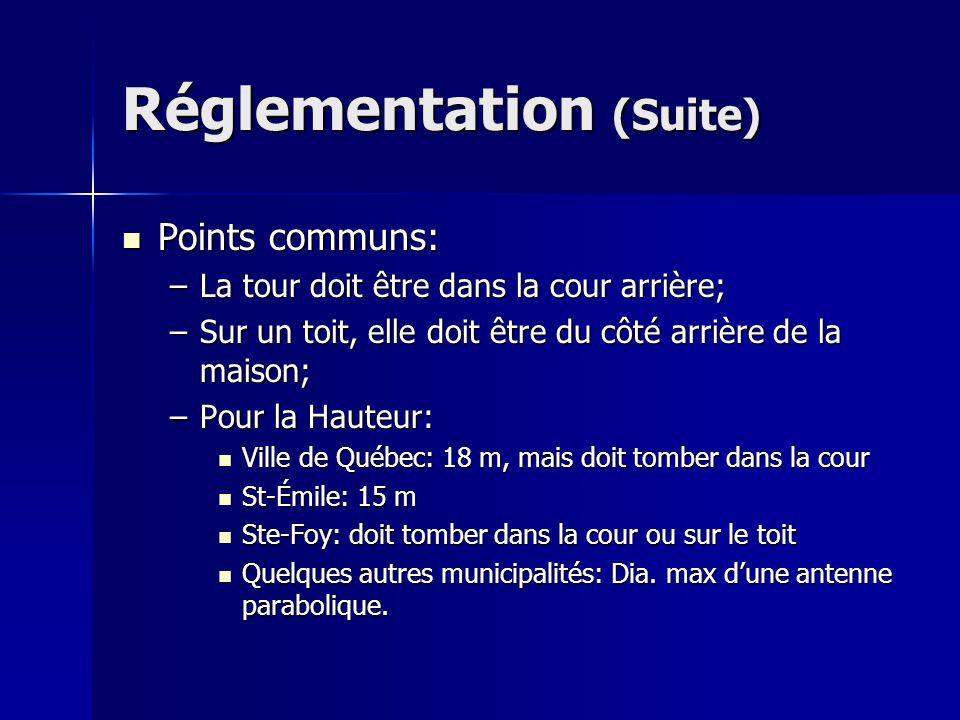 Réglementation (Suite)