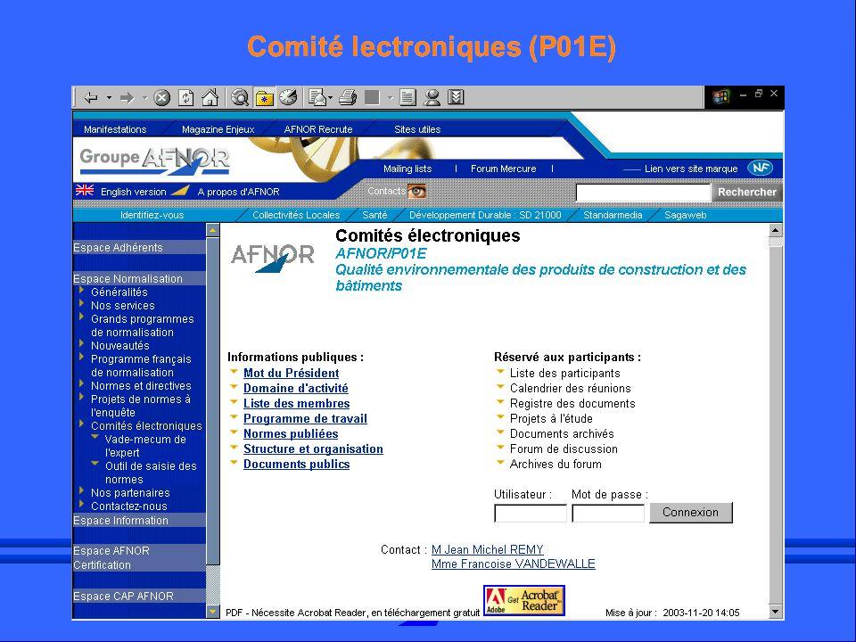 Comité lectroniques (P01E)