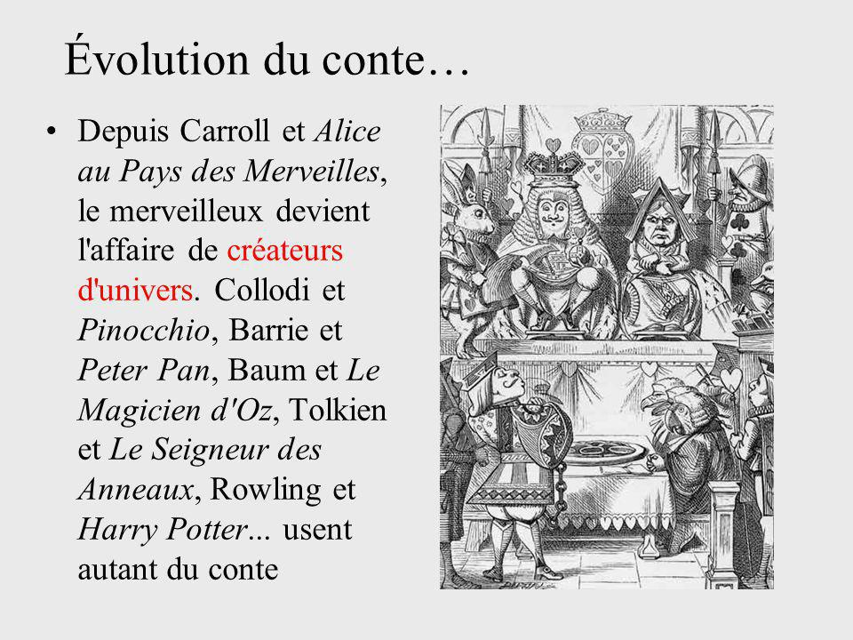 Évolution du conte…