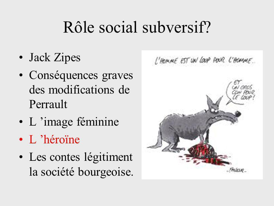 Rôle social subversif Jack Zipes