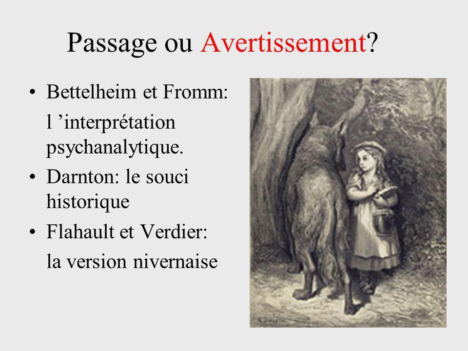 Passage ou Avertissement