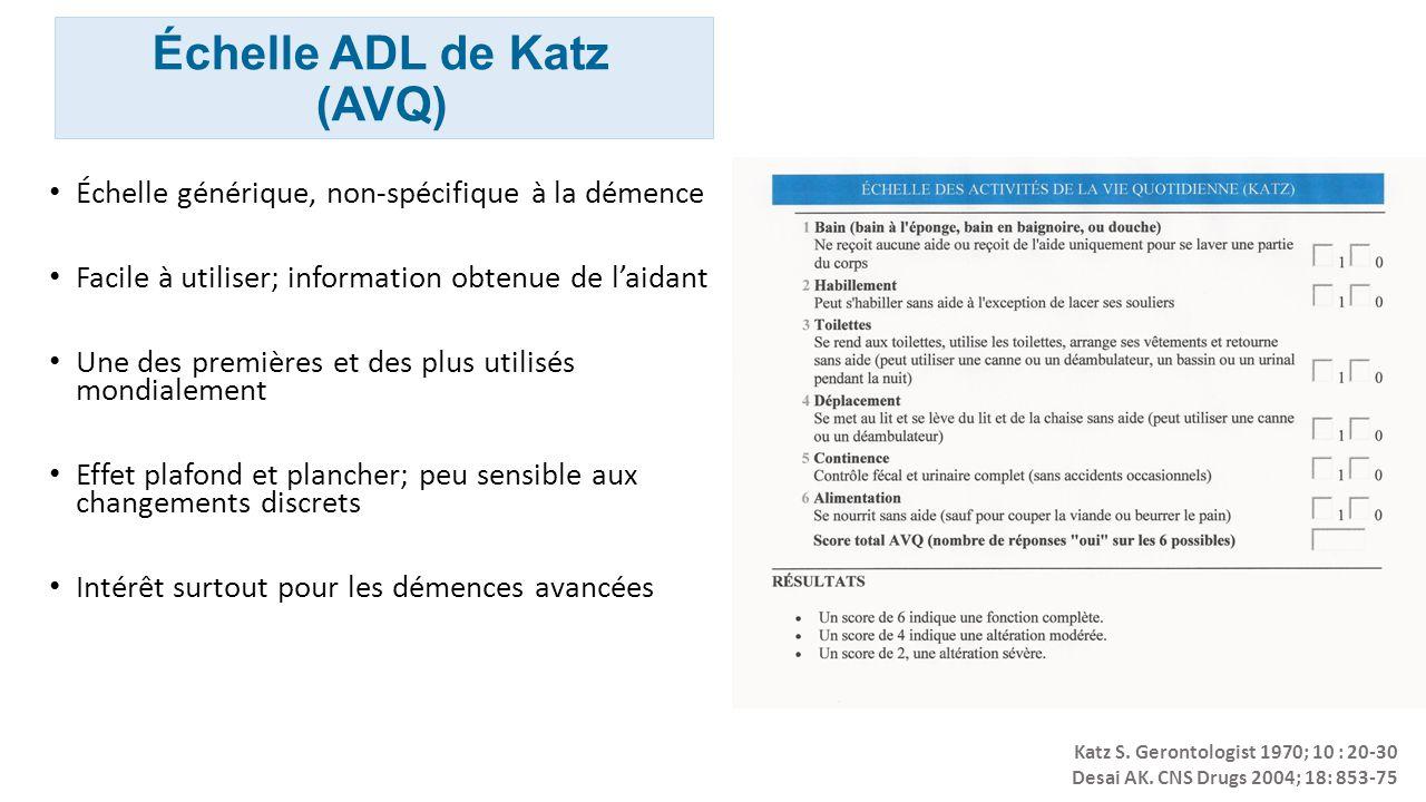 Échelle ADL de Katz (AVQ)