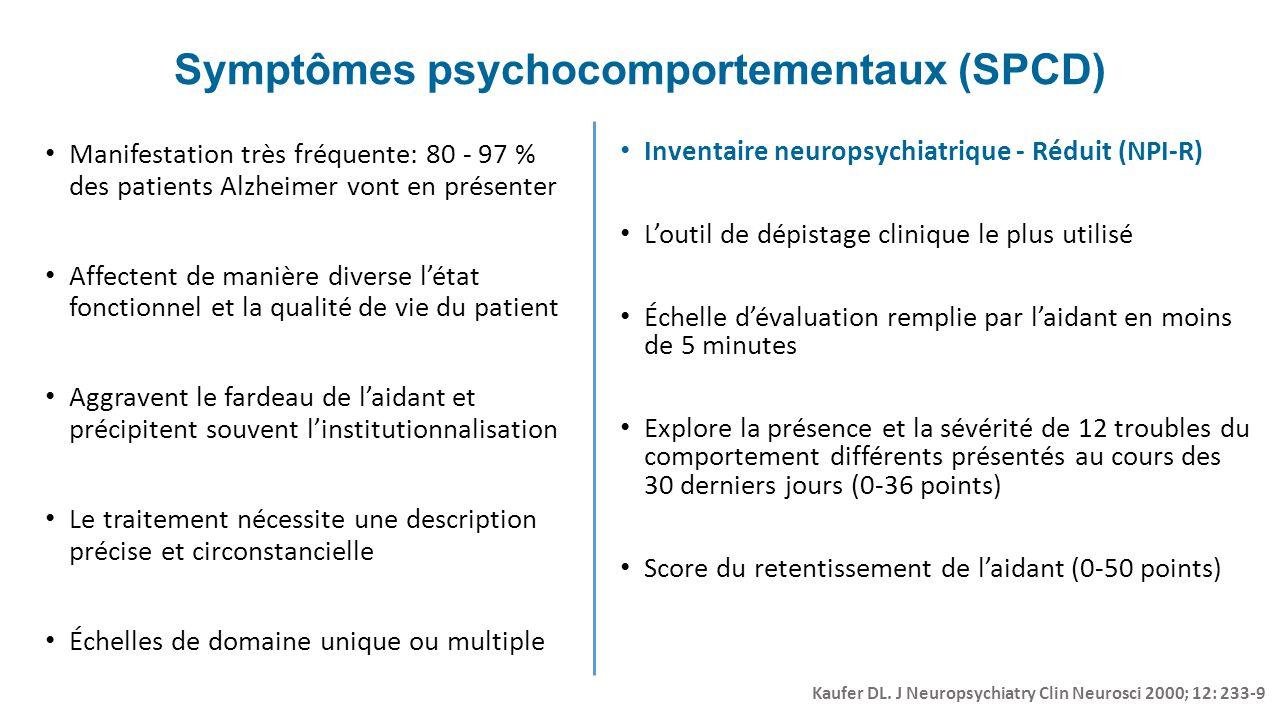 Symptômes psychocomportementaux (SPCD)