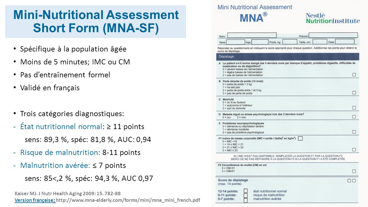 Mini-Nutritional Assessment Short Form (MNA-SF)